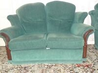 Green two seater settee
