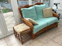 Conservatory wicker furniture For Sale
