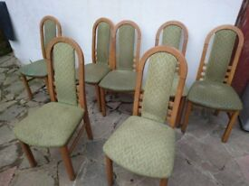 SOLID OAK CHAIRS!
