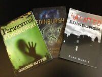 HAUNTED EDINBURGH 3 BOOKS