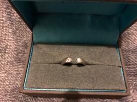 Paul Spurgeon Platinum Open Ended Ring with 2 x 0.09ct Diamonds