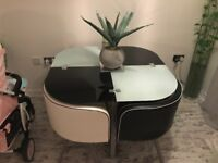 SPACE SAVER DINING TABLE & 4 CHAIRS LIKE NEW CONDITION