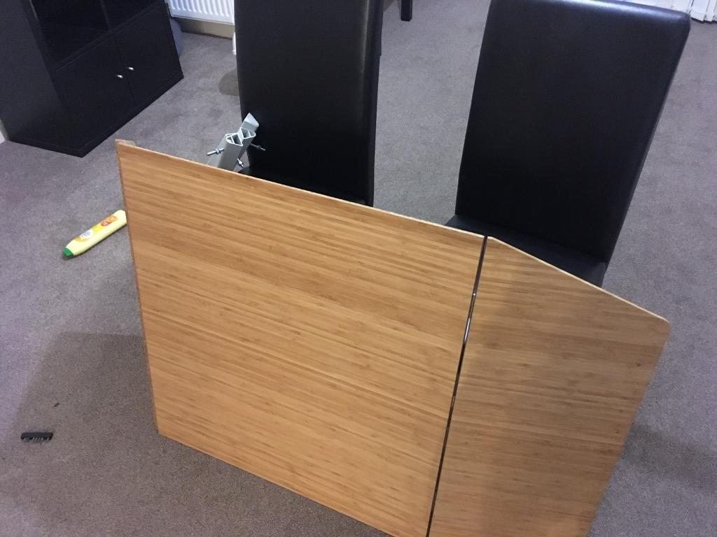 Extendable Table (IKEA) and Two Chairs