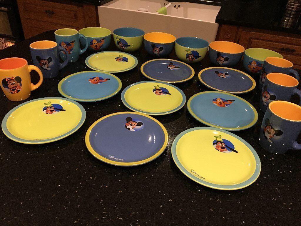 Collectable Retro/Vintage Disney/Esso Mugs, Bowls & Plates