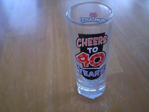 40TH SHOT GLASS Windsor Region Ontario image 1