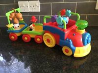 Fisher Price moving musical animal train