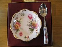 China dish and spoon for Jam/preserves