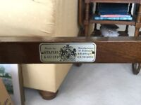 Tea trolley, solid teak in good condition, Staples of London