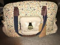 Pink lining bees knees changing bag brand new