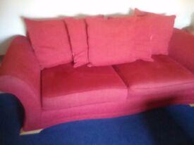 Three seater sofas x 2