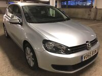 60 Reg VOLKSWAGEN GOLF 1.6 TDi MATCH HIGH SPEC!, 82k MILES, FSH, AA ASSURED, MOT DEC 17, £30 TAX P/A