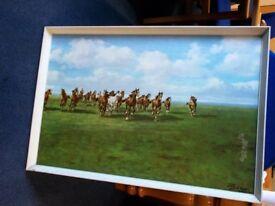 60's Mario Bordi Horse Print…Tretchikoff era...30598B