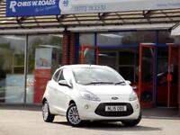 FORD KA 1.2 ZETEC 3dr ** Low Tax + Insurance ** (white) 2015