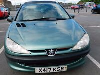 Peugeot 206 3 Door Automatic Petrol Green color Car