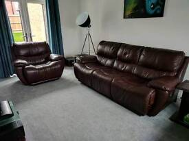 3 Seater Recliner, Chair Recliner and Footstool