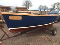 16 1/2ft GRP Fishing Boat & Road Trailer