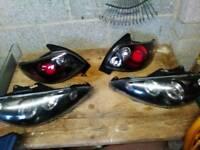 Peugeot 206 angel eye headlights and black lexus style tail lights