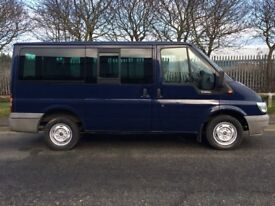 2005 FORD TRANSIT TORNEO 2.0 9 SEAT SWB BUS 95,000 GENUINE MILES FROM NEW NO VAT 11 MONTH MOT