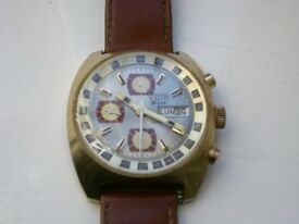 Yota automatic mechanical wristwatch - Vintage - '70s? Gold plated