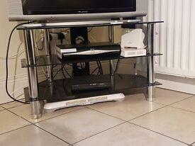 TV Stand - 3 Tier Chrome & Glass