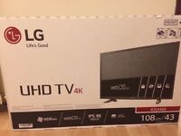 "43"" LG 4K HD TV FOR SALE"