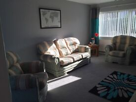 3 Piece Fabric Suite - 3 seater and two 1 seaters