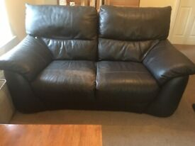 Barker & Stonehouse Leather 2 Seater Sofa