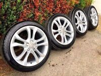 **RE-FURBED** GENUINE AUDI S4 A4 ALLOY WHEELS AND TYRES 245-40-18 SILVER