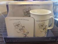 Mug, coaster and tray gift set REDUCED £3