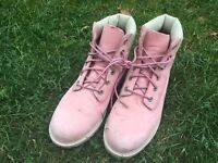 Ladies pink genuine timberland boots
