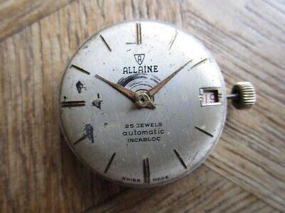 Vintage ALLAINE Automatic Movement Cal. FELSA 4002 for parts.