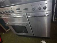 RANGEMASTER Toledo 90 Electric Induction Range Cooker - Stainless Steel & Chrome