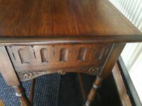 Dark oak hall side table West bridgford
