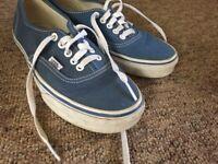 Vans Classic Light Blue Shoes Size 6 (UK)