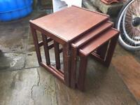 3in1 coffee table dark wood