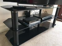 Brilliant condition glass and metal TV stand