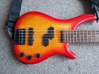 Westfield 5 String bass P/J Style Pickups Orange Burst for sale  Gillingham, Kent