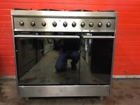 Smeg range dual fuel gas cooker C92DX8 90cm S/S double oven FSD 3 months warranty free local deliver
