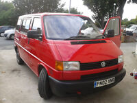 vw t4 transporter,caravelle 1.9td,2002 year,new mot,full service history