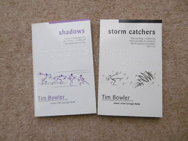 Two Tim Bowler Books - unread - storm catchers, and shadows.