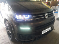 VW T5 Transporter Daylight Running Lights LED Primer Finish