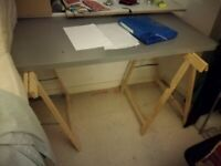 Desk and two trestles