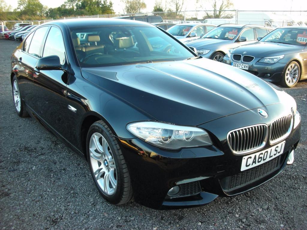 BMW 5 SERIES 2.0 520D M SPORT 4d 181 BHP (black) 2011