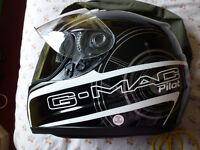 G-Mac Pilot crash helmet size XL. NEW