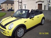 BMW MINI ONE CONVERTIBLE 54 PLATE £1475 ovno p/x welcome