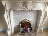 Fire surround and ornate fire (no heat)