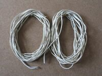 27M Vintage QED 69 Speaker Cable. 2 lengths 14.4M and 13.2M.