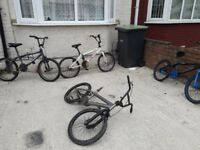 4x BMX bikes, bicycles that need tlc. spares or repairs