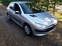 Peugeot 206 1.4 diesel 60 mpg £30 road tax only£695.