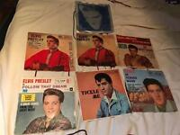 Job Lot 7 Elvis 45s some rare